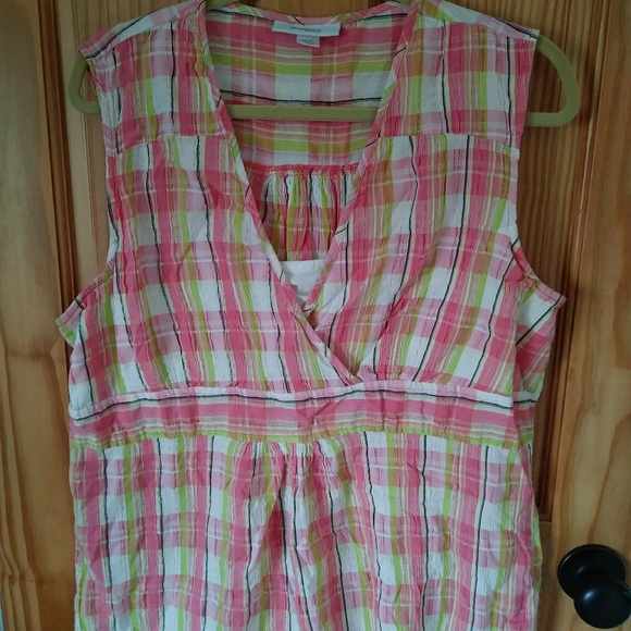 Dress Barn Tops - Sleeveless cotton blouse w/insert